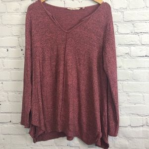 Soft Surroundings V Neck Tunic Soft Comfy Size Lg